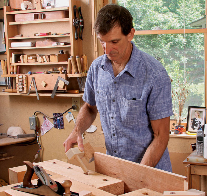 Tim Coleman in his Studio