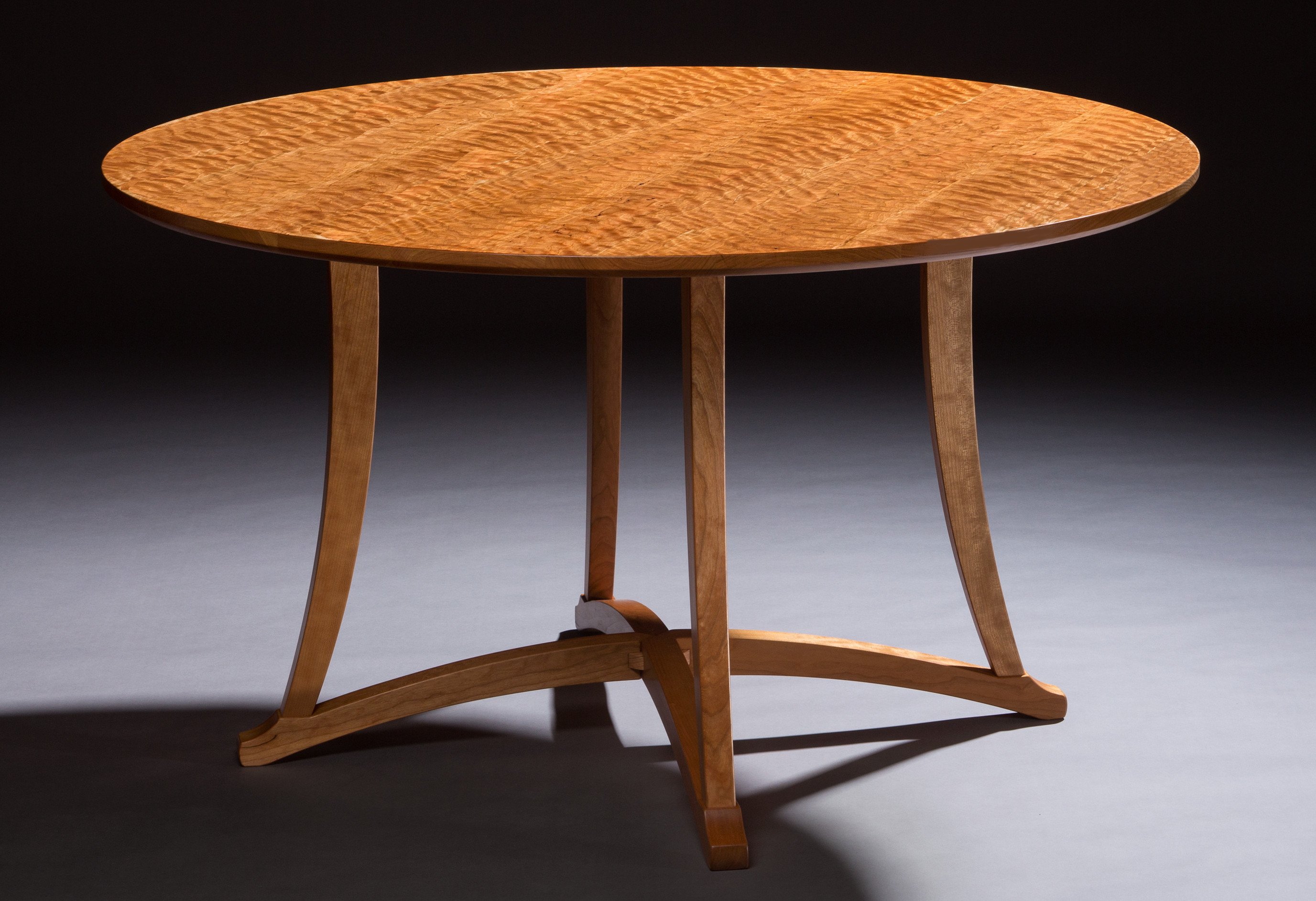 Curly Cherry Dining Table Timothy Coleman Furniture