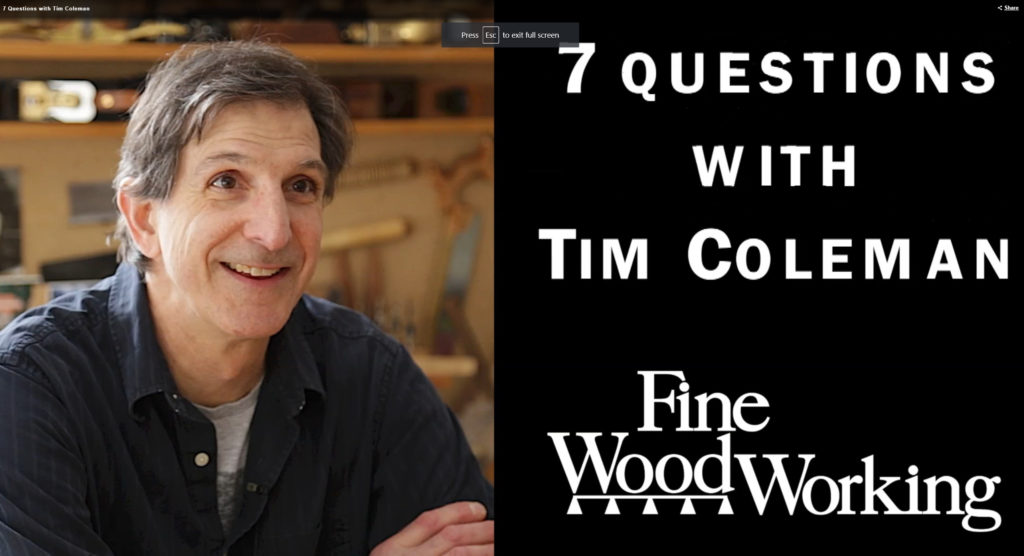 Instructional Videos Timothy Coleman Furniture